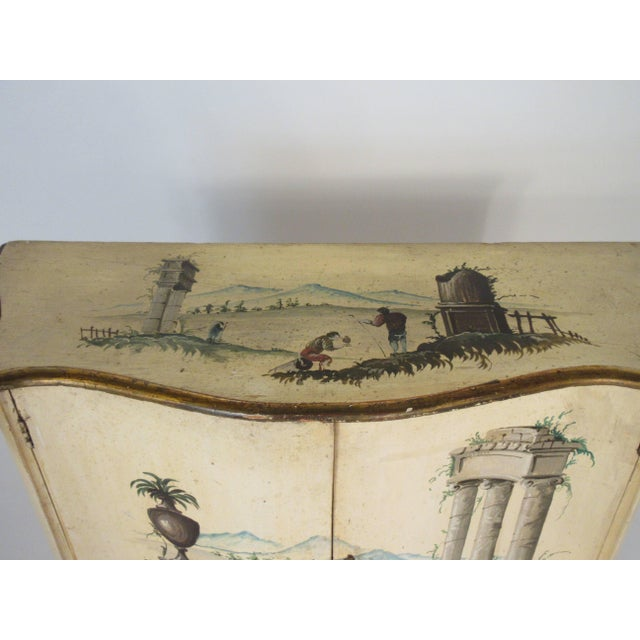 1960s Italian Painted Classical Cabinet For Sale - Image 4 of 9