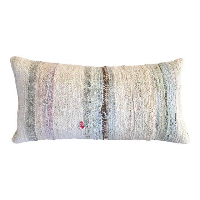 Moroccan Kilim Boho Pastel Pillow Cover - Image 1 of 7