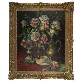 Late 19th Century Antique C. Maniere French Still Life Painting For Sale