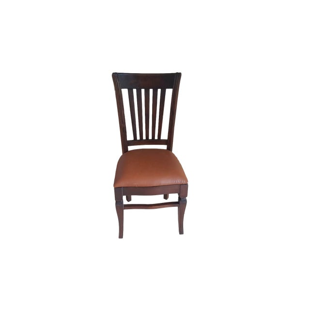 Teak Wood Classic Dining Chairs - Set of 6 - Image 2 of 5