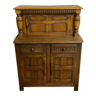 1950s Traditional Ercol Old Colonial Small Buffet/Cocktail Cabinet For Sale