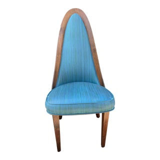 1960s Mid-Century Blue Side Chair For Sale