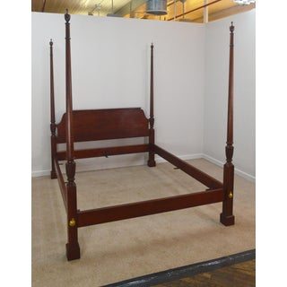Chippendale Baker Queen Size Mahogany Poster Bedframe Preview