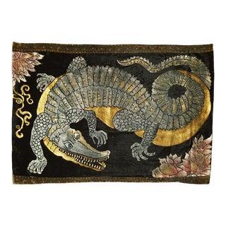 Alligator Silk Velvet Pillow For Sale