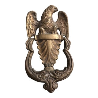 1950s Federal Brass Eagle Door Knocker For Sale
