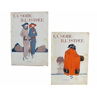 1920's French Fashion Magazines - a Pair For Sale