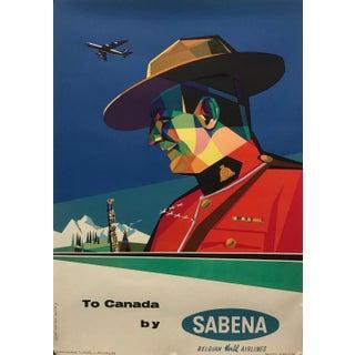 1960s Original Belgian Travel Poster, Sabena to Canada For Sale