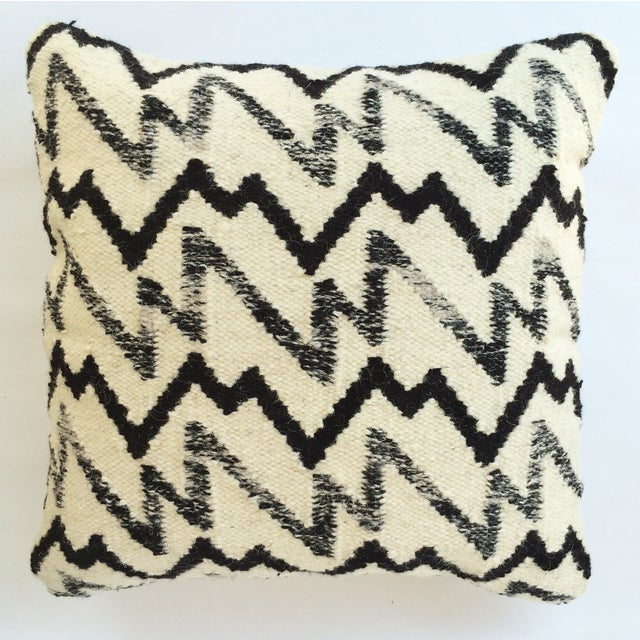 Black & Ivory Wool Pillow - Image 2 of 3