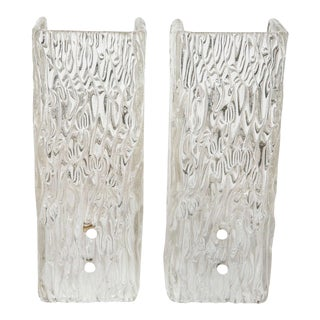 Pair of Glass Sconces by Kalmar For Sale