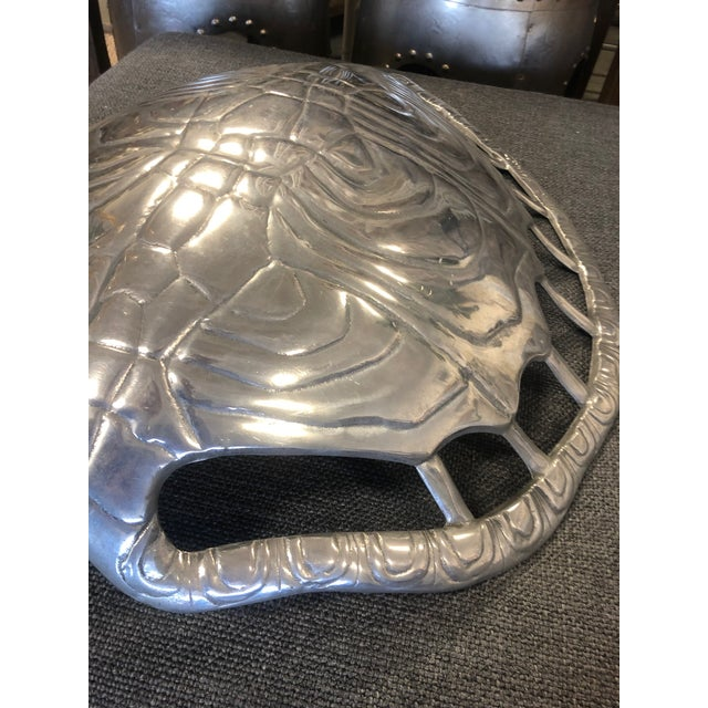 1970s 1970s Vintage Arthur Court Aluminum Turtle Shell Sconce For Sale - Image 5 of 12