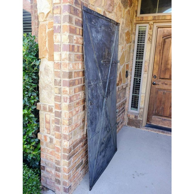 Rustic Mid 19th Century Iron Cellar Door For Sale - Image 3 of 11
