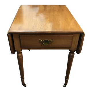 20th Century Traditional Statton Trutype Americano Drop Leaf Side Table For Sale