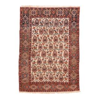 Vintage Beige Afshar Persian Area Rug For Sale