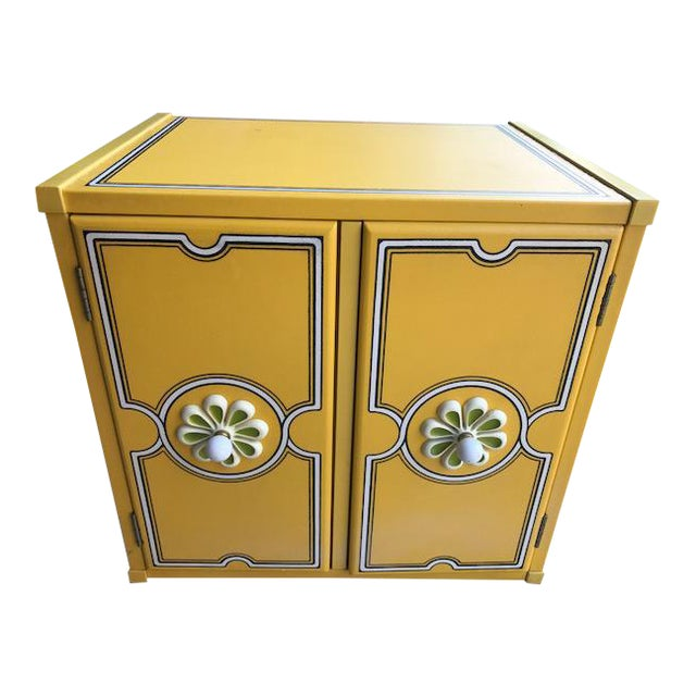 Drexel Flower Power Peter Max Style Nightstand - Image 1 of 4