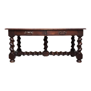 Large Late XVIII - Early XIX C. Louis XIII Table