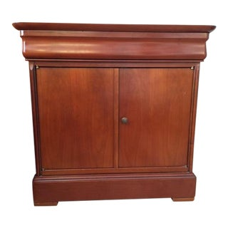 1990s Traditional Grange Cherry Wood Nightstand For Sale