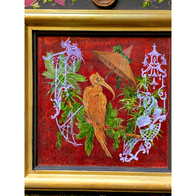 Grand Tour Grand Tour Style Hand Painted Panel With Antique Glazed Italian Cameos by Vramyan For Sale - Image 3 of 7