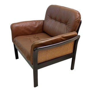 Mid-Century Danish Leather Lounge Chair For Sale