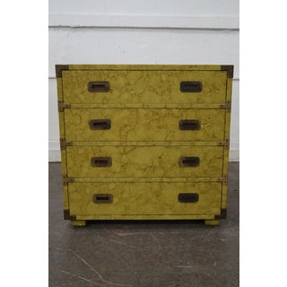 Henredon Vintage Faux Painted Campaign Chest of Drawers Preview