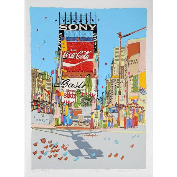 "1977 Vintage Susan Pear Meisel ""Times Square"" Limited Edition Print For Sale - Image 9 of 11"