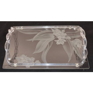 1940s Dorothy Thorpe Etched Glass and Lucite Tray Preview