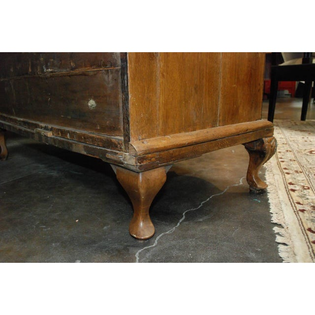 Mid 18th Century Serpentine Danish Oak Chest of Drawers For Sale - Image 5 of 5