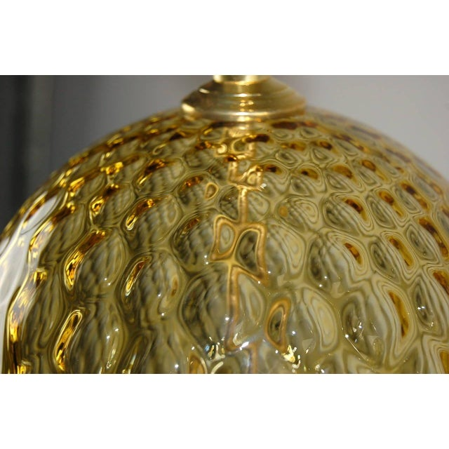 Vintage Murano Stacked Ball Glass Table Lamps Gold For Sale In Little Rock - Image 6 of 10