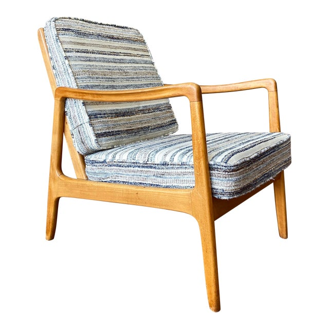 Mid-Century Modern Ole Wanscher Lounge Chair for France & Daverkosen For Sale