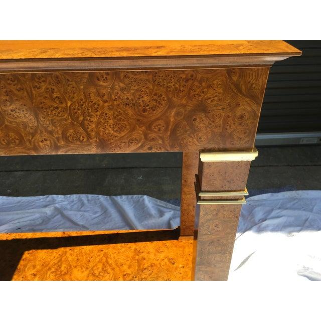 Brass Baker Furniture Regency Console in Burl& Brass For Sale - Image 8 of 12