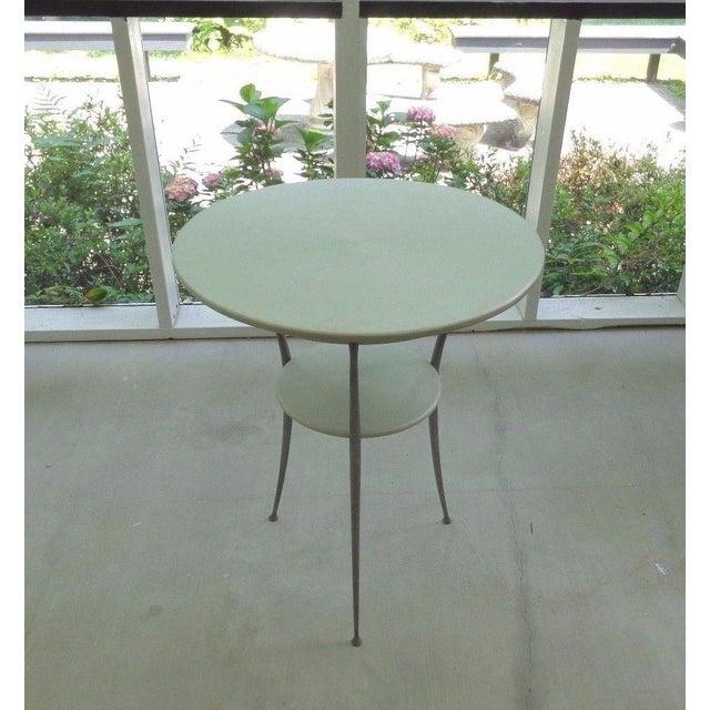 Mid Century Italian Arper Aluminum Table - Image 4 of 10