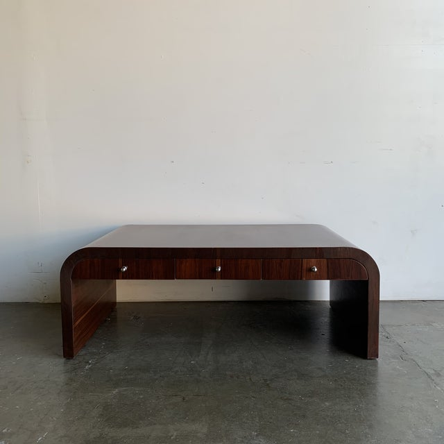 Mid-Century Modern Low Profile Art Deco Coffee Table For Sale - Image 3 of 13