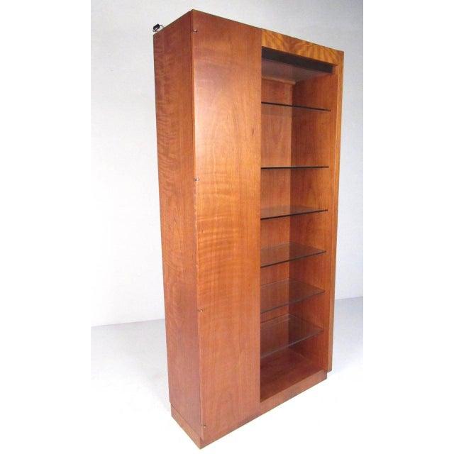Pair of Scandinavian Modern Teak Display Cabinets For Sale - Image 4 of 10