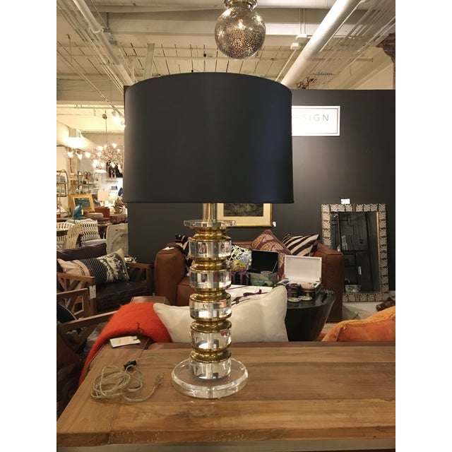Vintage Lucite and Bass Lamp - Image 9 of 9