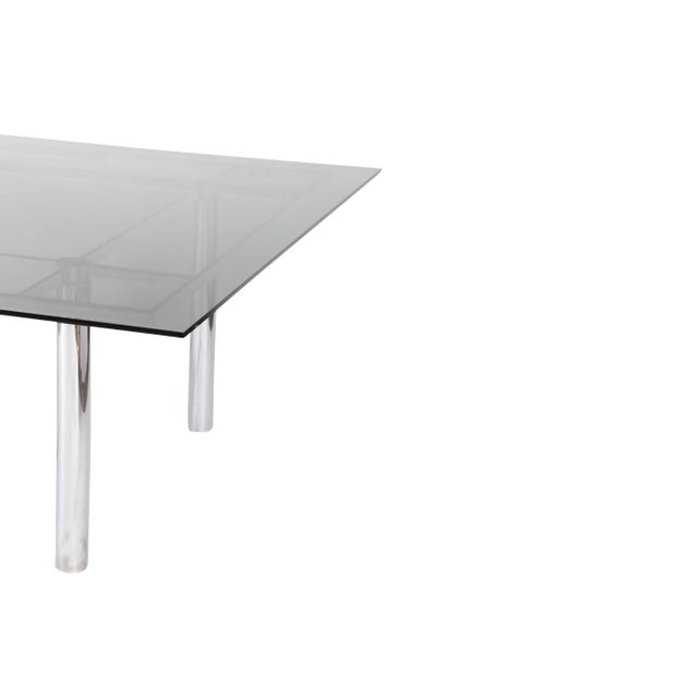 Tobia Scarpa Large Square Chrome Dining Table for Knoll Model André For Sale - Image 6 of 8