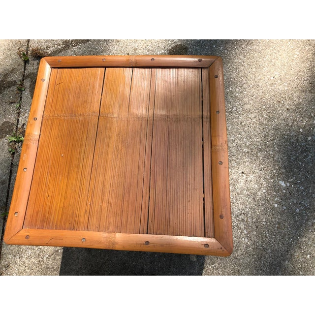 Mid 20th Century Cali- Asian Style Bamboo Nesting Tables - a Pairt For Sale In Cleveland - Image 6 of 9