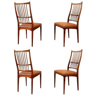 Vintage Mid Century Danish Dining Chairs- Set of 4 For Sale