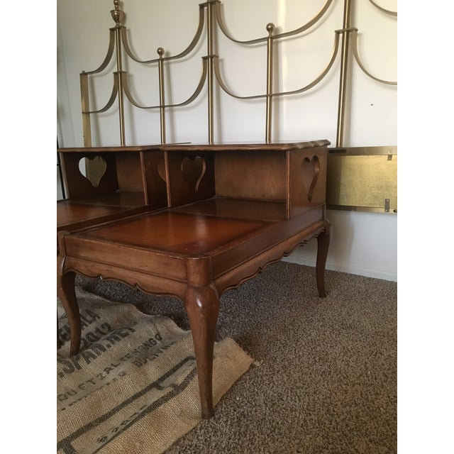 Vintage Double Top Side Tables - a Pair - Image 8 of 8