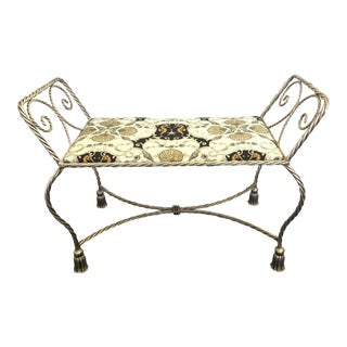 Hollywood Regency Revival Boudoir Bench For Sale