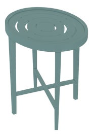 Image of Green Outdoor Side Tables