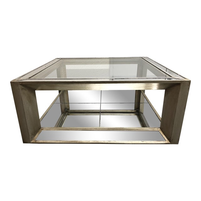 ZGallerie Pascual Mirrored Cocktail Table Chairish - Pascual coffee table