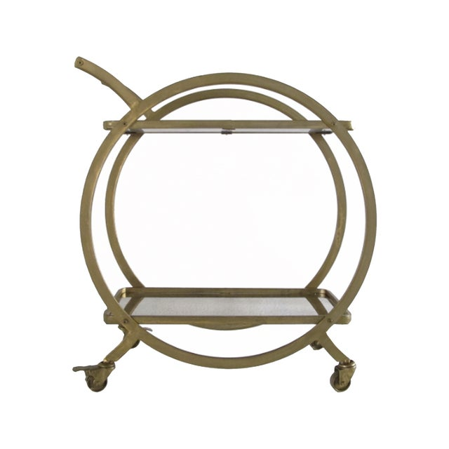 Celery Colored Mid Century Bar Cart - Image 1 of 2