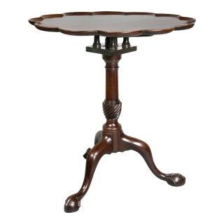 George III Mahogany Tilt-Top Table For Sale