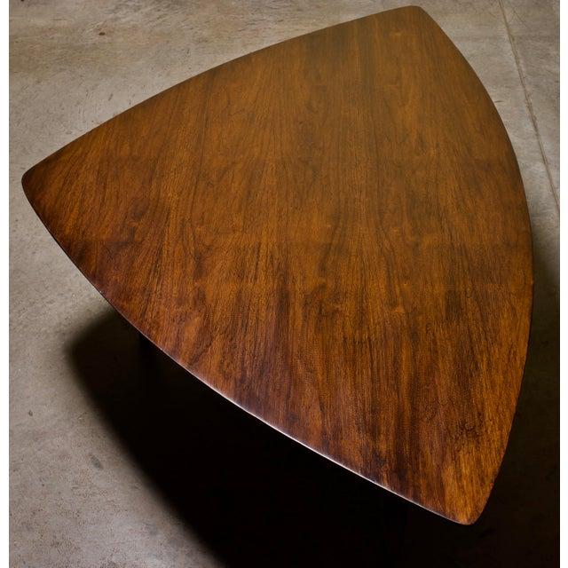 Mid-Century Modern 1960s Mid-Century Modern Erwin Lambeth Triangle Walnut Coffee Table For Sale - Image 3 of 6