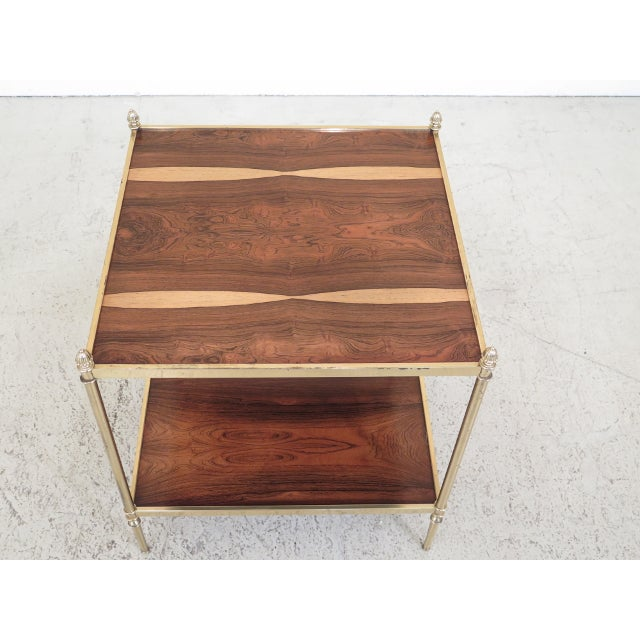 BAKER Collectors Edition Rosewood & Brass Directoire Occasional Table Age: Approx: 20 Years Old Details: High Quality...