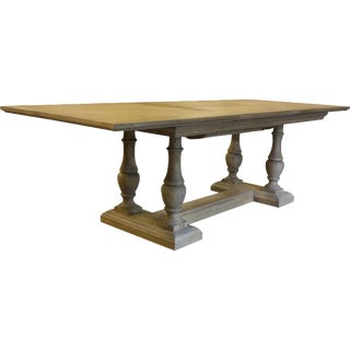Farmouse Solid Oak Dining Table For Sale