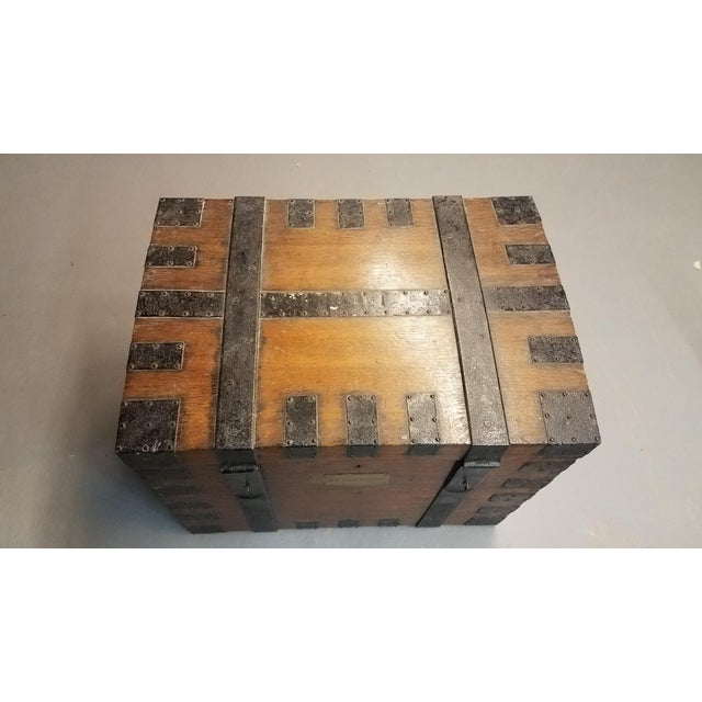 Late 1800s Oak Silver Trunk For Sale - Image 12 of 13
