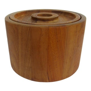 Vintage Jens Quistgaard Danish Teak Ice Bucket, for Dansk International For Sale