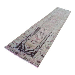 1970s Vintage Turkish Herki Runner - 2′9″ × 13′ For Sale