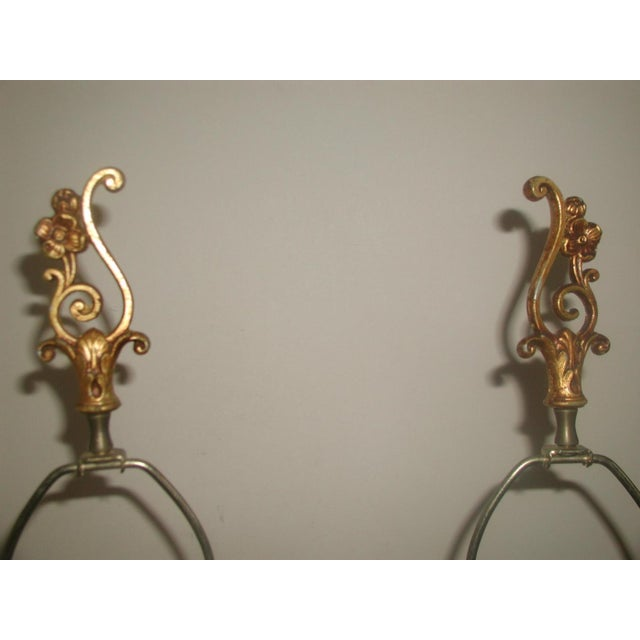 20th Century Rewired Italian Gilt Swag Lamps - 2 - Image 5 of 10