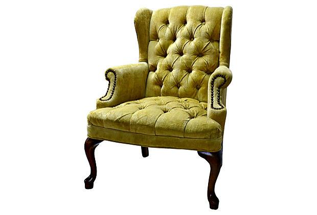 Petite Tufted Wingback Chair   Image 2 Of 7